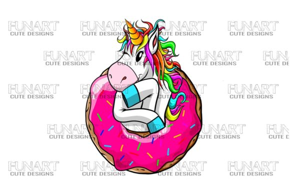 CUTE UNICORN , PNG File , Digital Design Graphic Illustrations By Fundesings