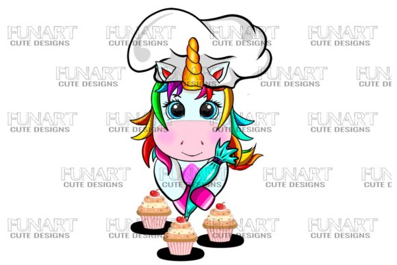 Cakes , Unicorn , Png , Digital Design Graphic Illustrations By Fundesings