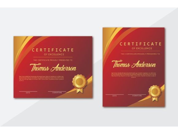 Print on Demand: Certificate Template Graphic Print Templates By uicreativenet