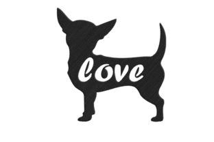 Chihuahua Silhouette Dogs Embroidery Design By SweetDesign