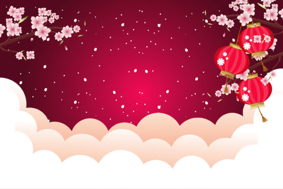Print on Demand: Chinese New Year Amazing Background Graphic Illustrations By edywiyonopp