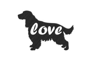 Cocker Spaniel Silhouette Dogs Embroidery Design By SweetDesign