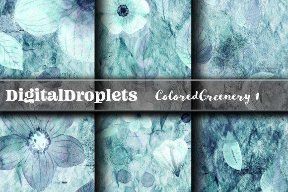 Colored Diamond Greenery 1 | FREEBIE Graphic Backgrounds By digitaldroplets