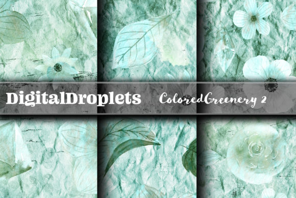 Colored Diamond Greenery 2 | FREEBIE Graphic Backgrounds By digitaldroplets