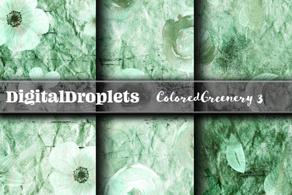 Colored Diamond Greenery 3  | FREEBIE Graphic Backgrounds By digitaldroplets