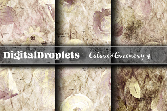 Colored Diamond Greenery 4  | FREEBIE Graphic Backgrounds By digitaldroplets