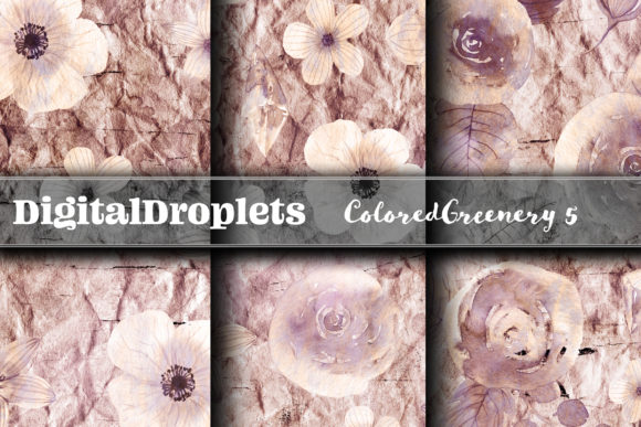 Colored Diamond Greenery 5 | FREEBIE Graphic Backgrounds By digitaldroplets