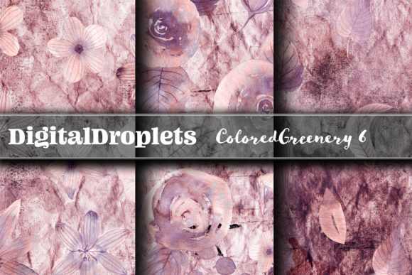 Colored Diamond Greenery 6  | FREEBIE Graphic Backgrounds By digitaldroplets