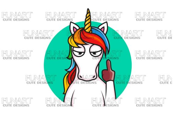 Cool Unicorn Design , Png Graphic Illustrations By Fundesings