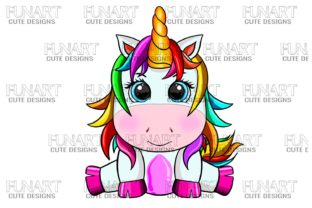 Cool Unicorn , PNG Graphic Illustrations By Fundesings