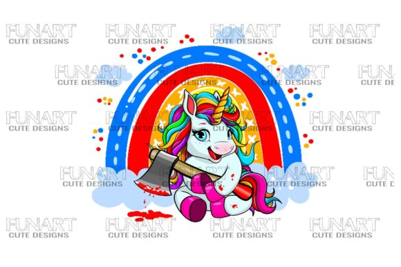 Cool Unicorn Digital Design Graphic Illustrations By Fundesings