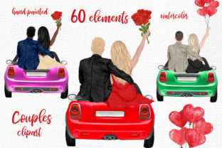 Print on Demand: Couples Clipart Valentines Day Graphic Illustrations By LeCoqDesign