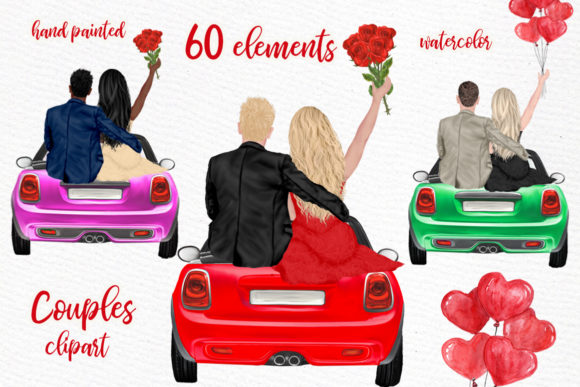 Couples Clipart Valentines Day Graphic Illustrations By LeCoqDesign