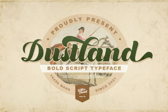 Print on Demand: Dustland Script & Handwritten Font By letterhend