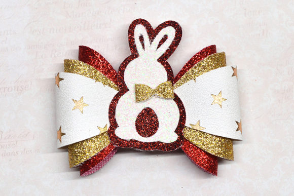 Easter Bunny Bow Template Graphic