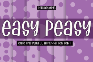 Print on Demand: Easy Peasy Display Font By Supersemar Letter
