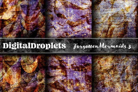 Forgotten Mermaids Collection Graphic Backgrounds By digitaldroplets