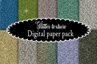 Print on Demand: Glitter Texture Digital Paper Pack Graphic Backgrounds By A Design in Time