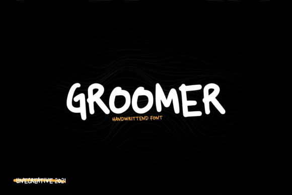 Print on Demand: Groomer Script & Handwritten Font By Line creative