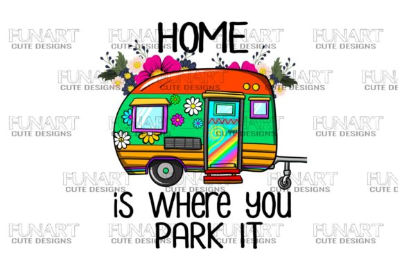 HIPPIES ,VAN ,CAMPERS ,WILDLIFE , PNG Graphic Illustrations By Fundesings