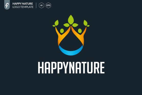 Happy Nature Logo Template Graphic Logos By ferart88