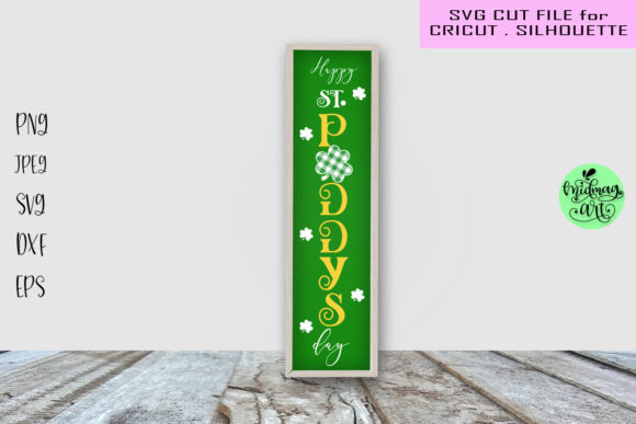 Happy St. Paddy's Day Porch Sign Svg Graphic Objects By MidmagArt
