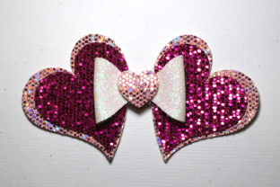 Hearts Bow Template Graphic 3D SVG By ArtiCuties
