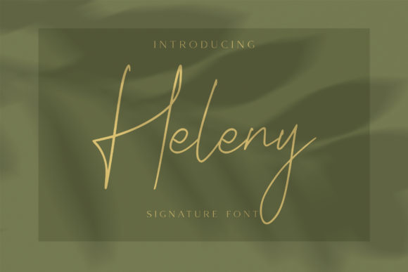 Print on Demand: Heleny Script & Handwritten Font By craftsupplyco