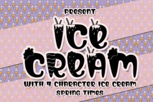 Print on Demand: Ice Cream Display Font By edwar.sp111