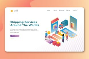 Print on Demand: Isometric Landing Pages Graphic Landing Page Templates By uicreativenet