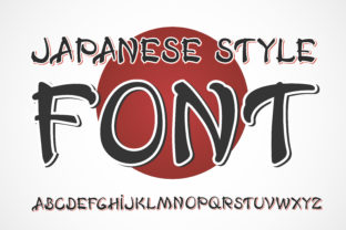 Print on Demand: Japanese Display Font By Fractal font factory