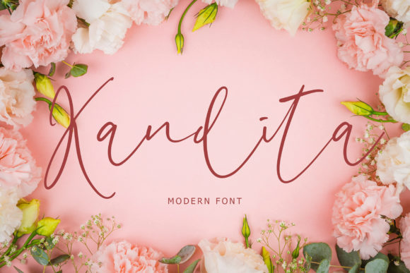 Print on Demand: Kandita Script & Handwritten Font By formatikastd