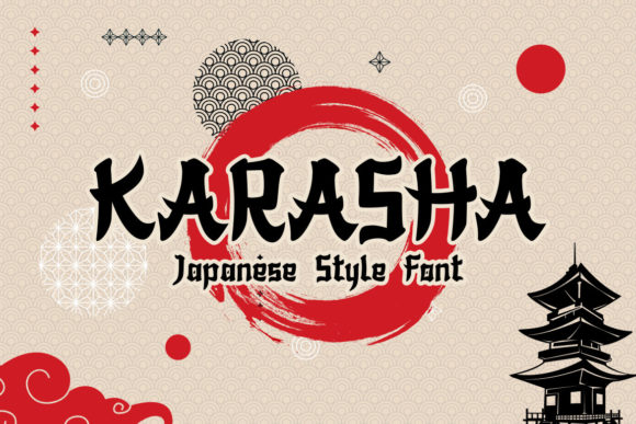Print on Demand: Karasha Display Font By nurfdesigns