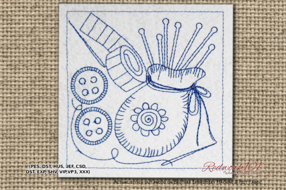 Knitting and Sewing Accessories Redwork Sewing & Crafts Embroidery Design By Redwork101