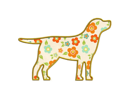 Labrador Applique Design Dogs Embroidery Design By SweetDesign