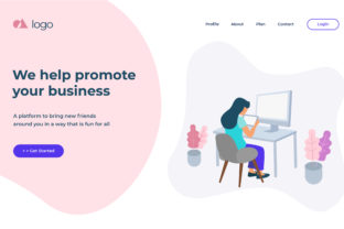 Print on Demand: Landing Page Template Graphic Landing Page Templates By uicreativenet