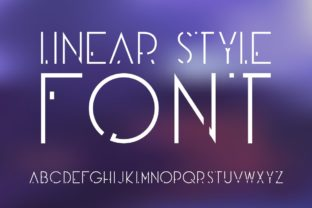 Print on Demand: Linear Style Display Font By Fractal font factory