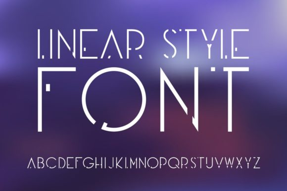 Print on Demand: Linear Style Display Font By dsfractal