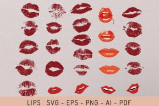 Lips Svg - Eps - Png - Ai - Pdf Graphic Objects By EfficientTools