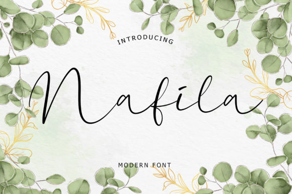 Print on Demand: Nafila Script & Handwritten Font By formatikastd