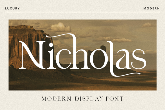 Print on Demand: Nicholas Serif Font By RockboyStudio