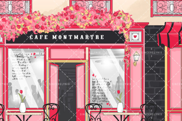 Paris Valentines Background Graphic Backgrounds By SincerelyNix