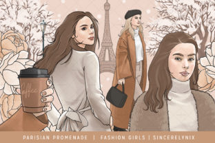 Print on Demand: Paris Clipart, Fashion Girls, Girl Boss Graphic Illustrations By SincerelyNix