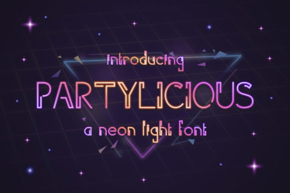 Print on Demand: Partilicious Display Font By TypeFactory