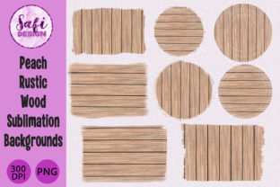 Print on Demand: Peach Wood Sublimation Backgrounds Graphic Backgrounds By Safi Designs