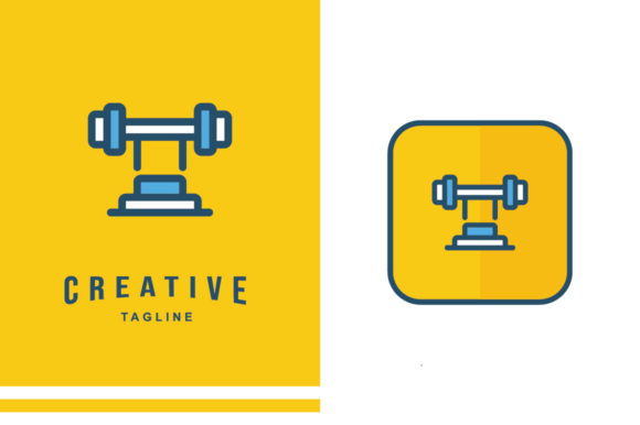 Physiotherapy Icon - Barbells Graphic Icons By MelindAgency