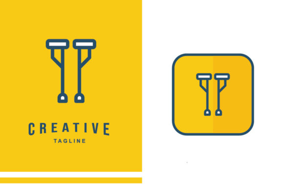 Physiotherapy Icon - Walking Aid Graphic Icons By MelindAgency