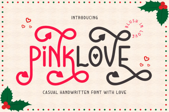 Print on Demand: Pinklove Display Font By airotype