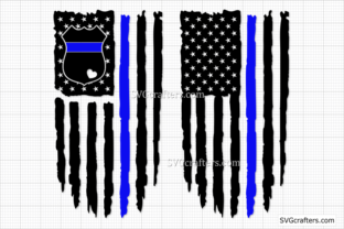 Print on Demand: Police Badge SVG, Back the Blue Svg Graphic Crafts By SVGcrafters 1