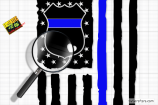Print on Demand: Police Badge SVG, Back the Blue Svg Graphic Crafts By SVGcrafters 2